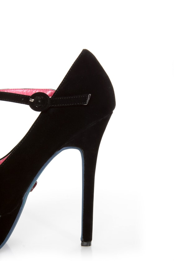 Promise Goodness Black Mary Jane Power Platform Pumps