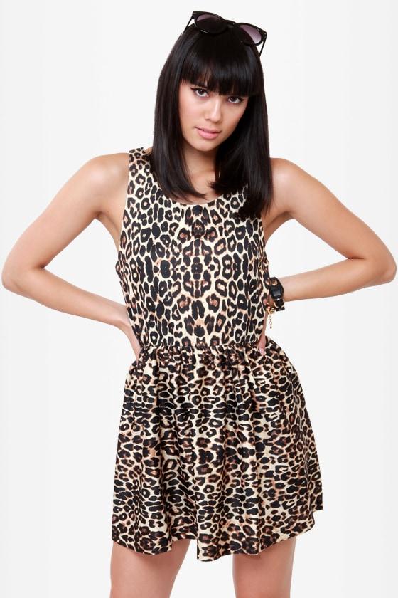 655c1ca8e999 Cute Animal Print Dress - Leopard Print Dress - Skater Dress - Sleeveless  Dress -  40.00