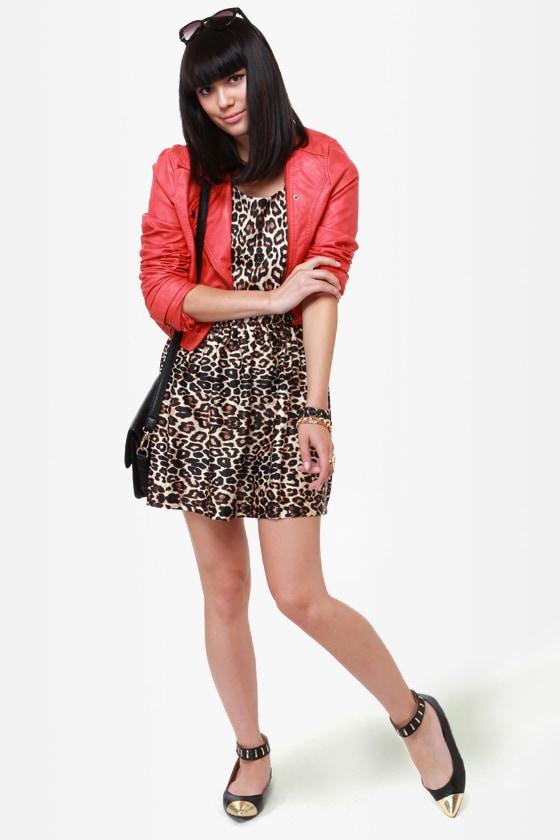 5cab35fce8c3 Cute Animal Print Dress - Leopard Print Dress - Skater Dress ...