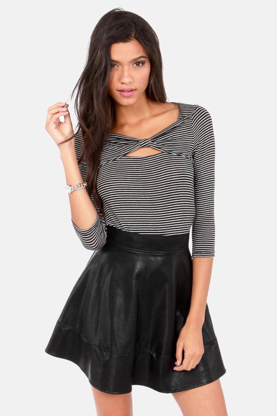 c1774cf89f Cute Black Skirt - Vegan Leather Skirt - Mini Skirt - $43.00