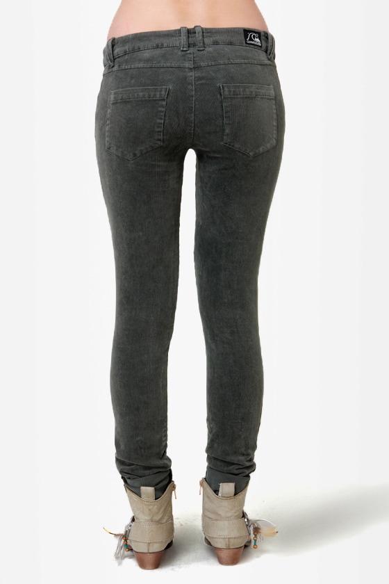 Quiksilver Woodstock Grey Corduroy Skinny Pants