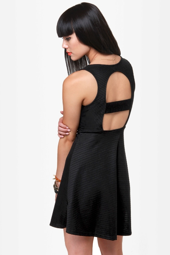 Sicilian Sweetheart Cutout Black Dress