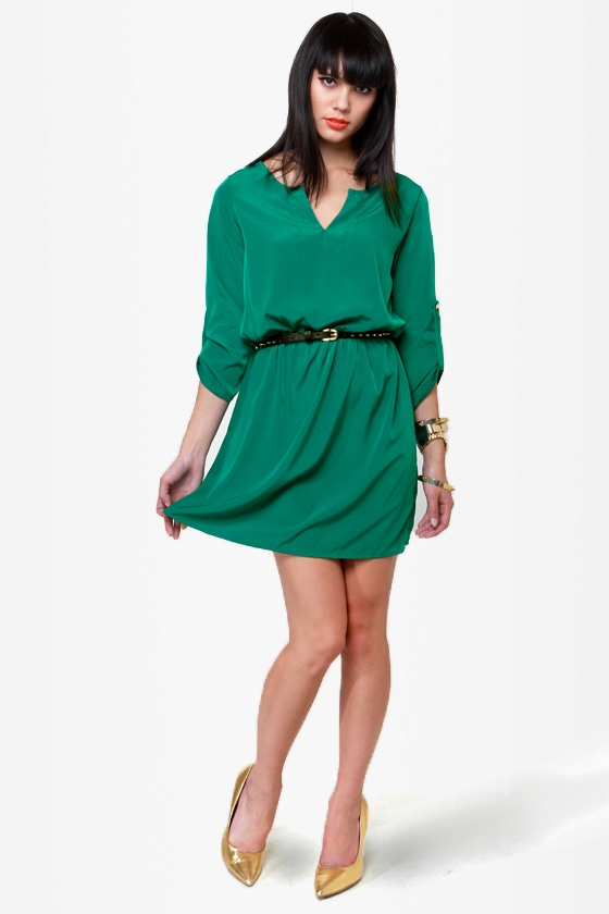 Keeping It Casual Green Dress