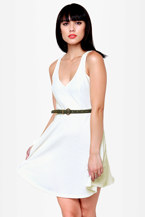 Sicilian Sweetheart Cutout Ivory Dress at Lulus.com!