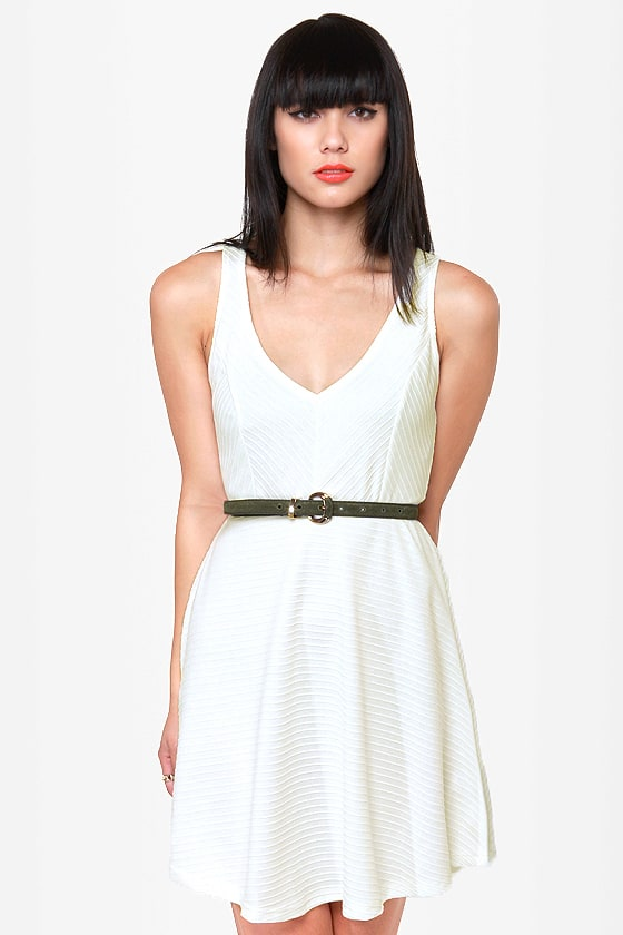 Sicilian Sweetheart Cutout Ivory Dress