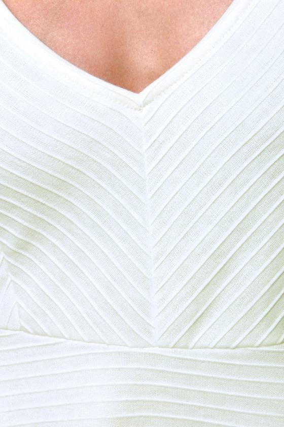 Sicilian Sweetheart Cutout Ivory Dress