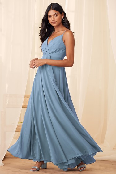 All About Love Slate Blue Maxi Dress