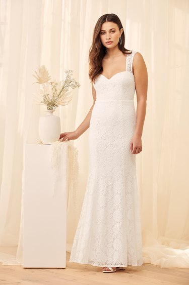 Rosetta White Lace Maxi Dress
