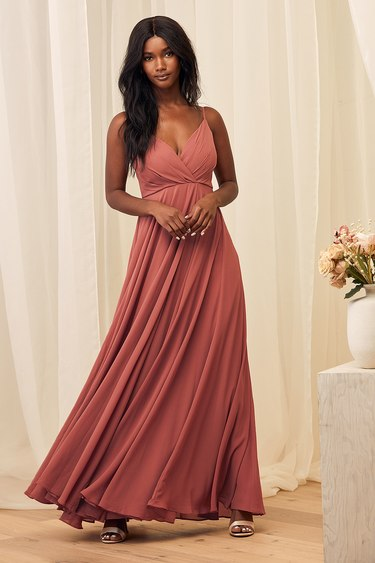 All About Love Rusty Rose Maxi Dress
