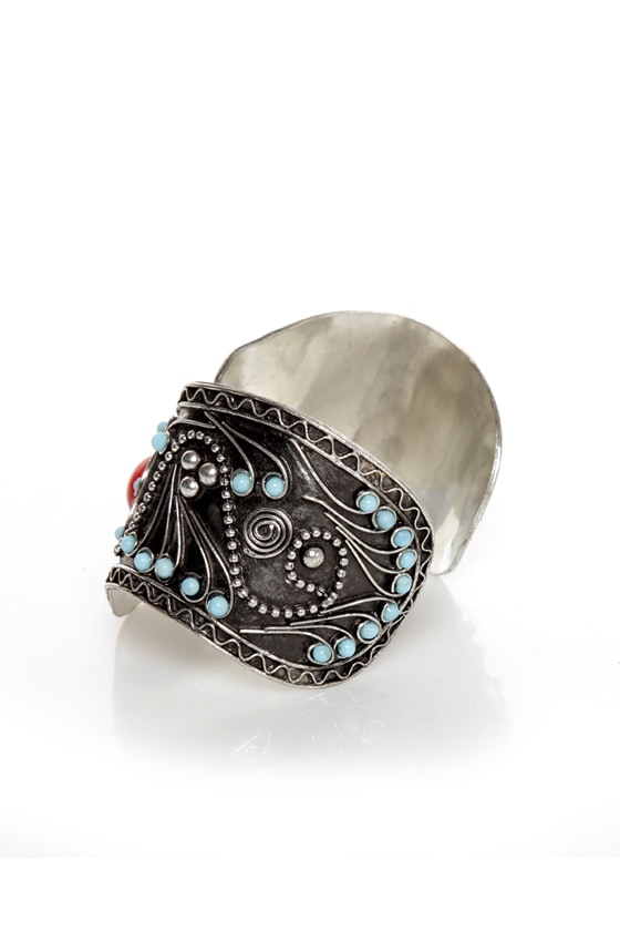 My Sedona Red and Turquoise Cuff