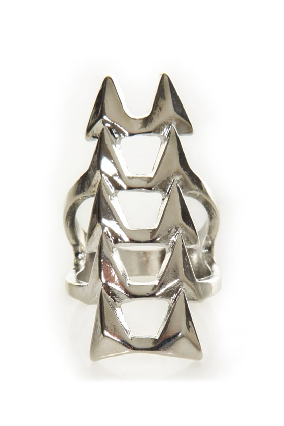 Ain\'t No Fang Silver Statement Ring