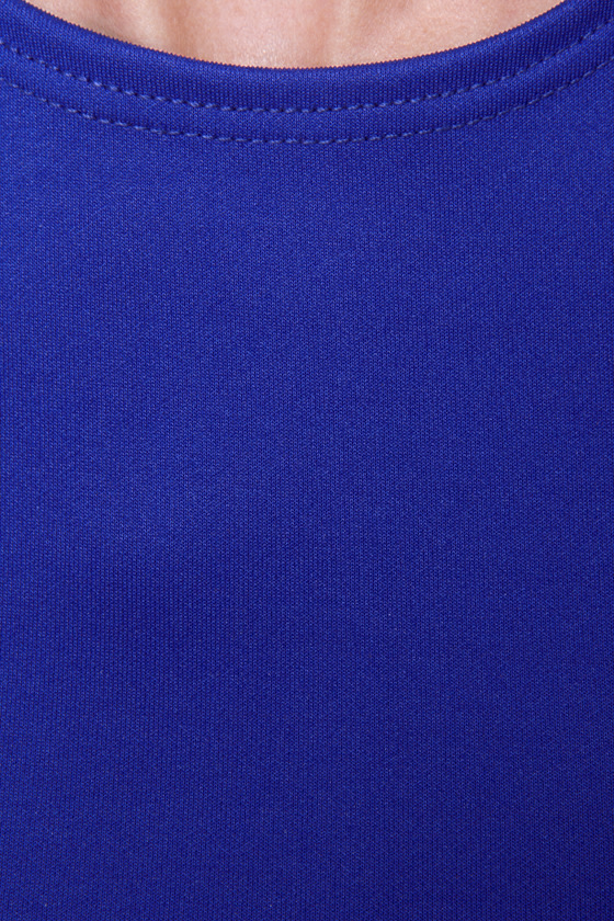 LULUS Exclusive Wanna Race? Royal Blue Dress