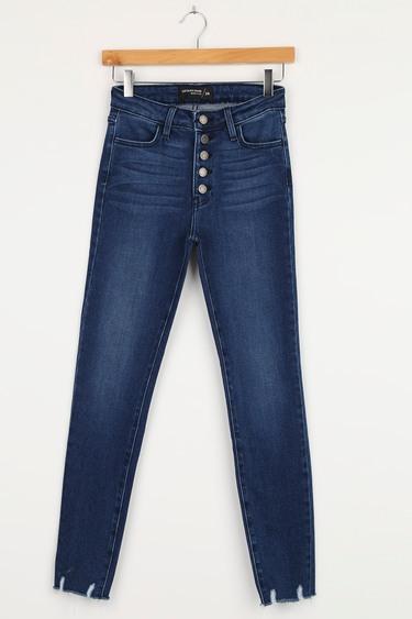 Just Black New Horizons Dark Wash High-Rise Raw Hem Skinny Jeans