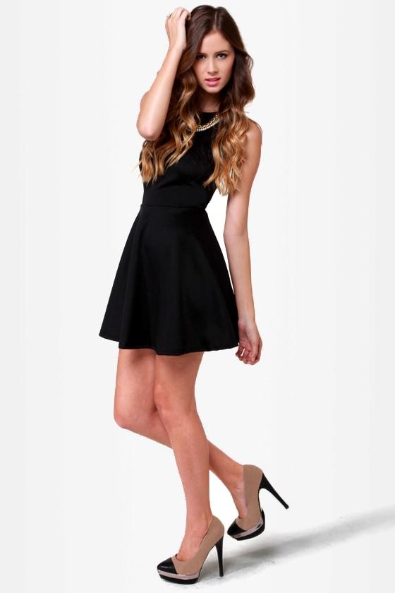 LULUS Exclusive Wanna Race? Black Dress