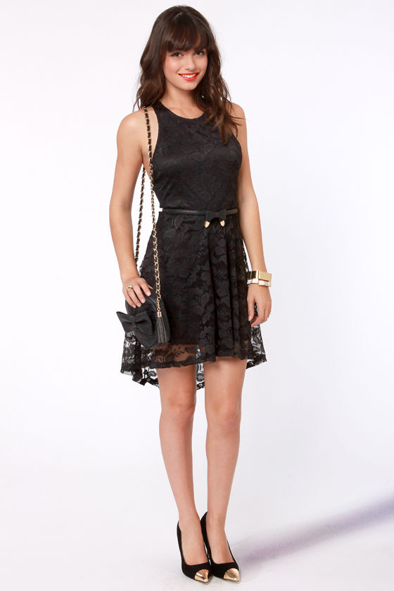 First Anniversary Black Lace Dress at Lulus.com!