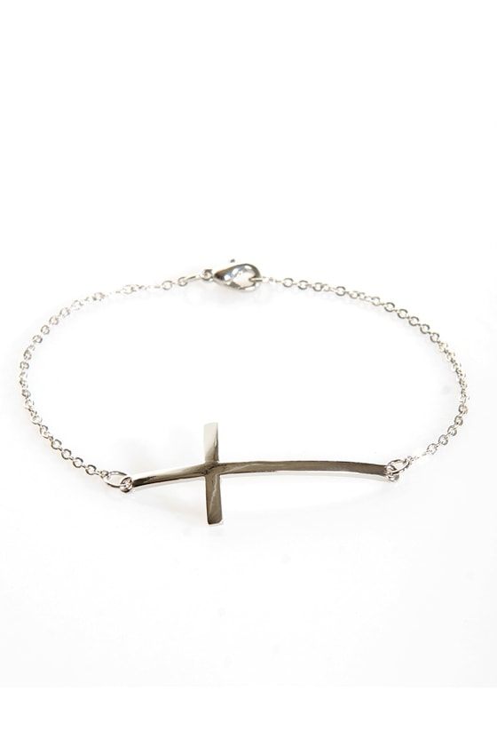 Crosswise Silver Cross Bracelet at Lulus.com!