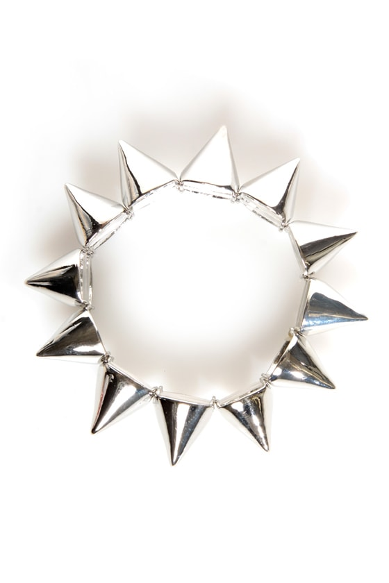 Spike It Like That Silver Spike Bracelet at Lulus.com!