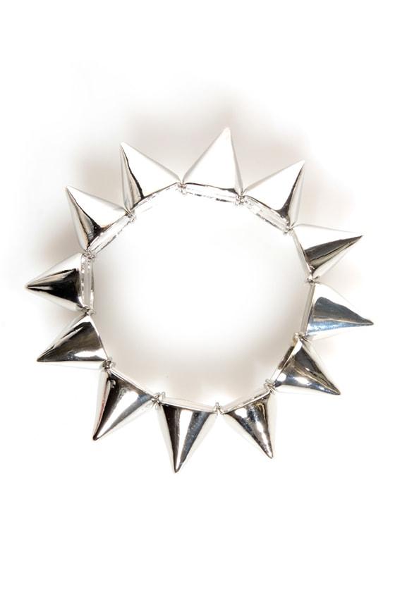 Spike It Like That Silver Spike Bracelet