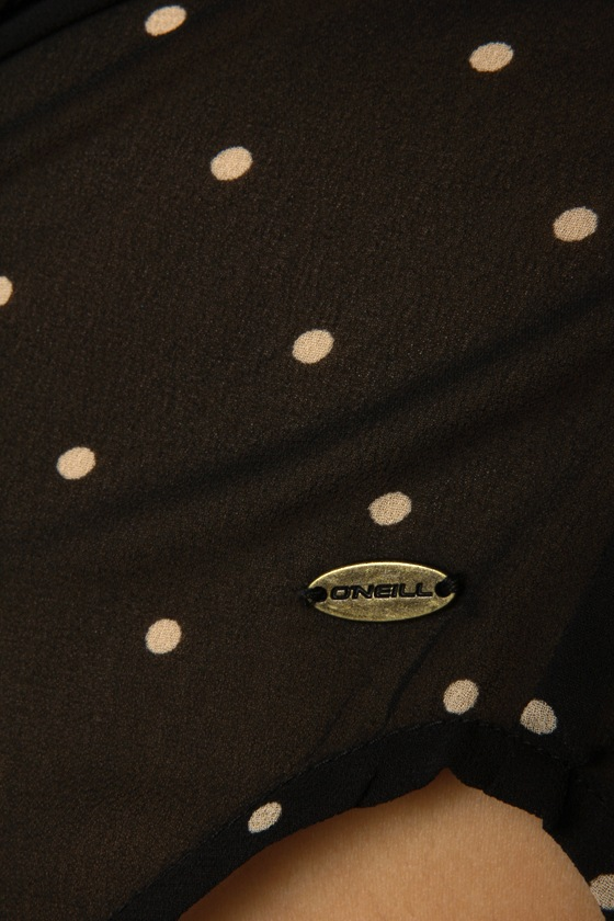 O\'Neill Galaxy Black Polka Dot Top