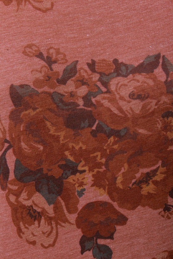 O'Neill Flower Patch Brown Floral Print Top