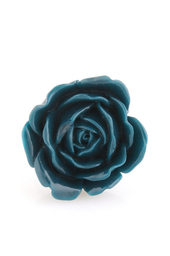 Zad Extreme Rose Blue Rose Ring at Lulus.com!