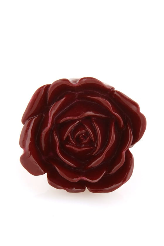 Zad Extreme Rose Burgundy Rose Ring