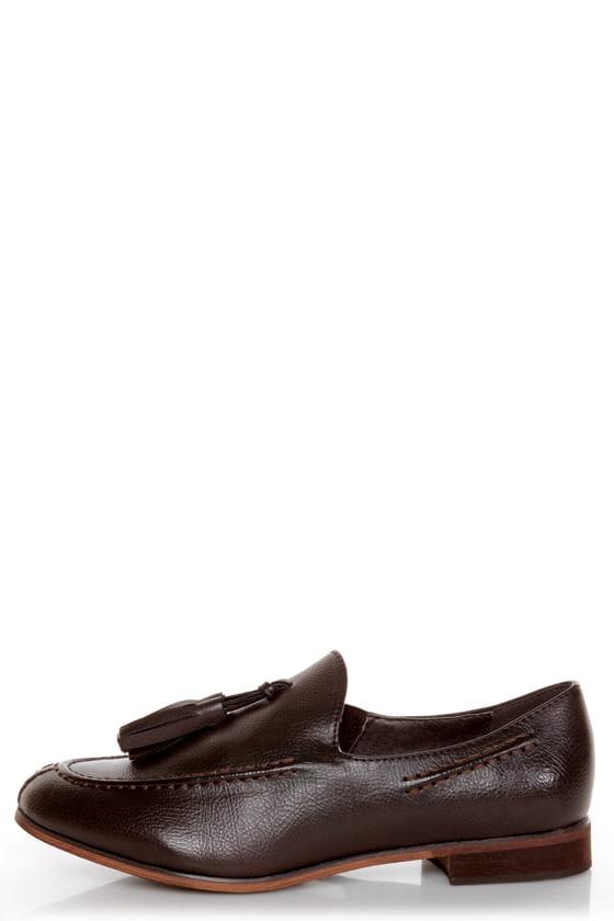 Oxy 4 Brown Slip-On Tassel Loafers