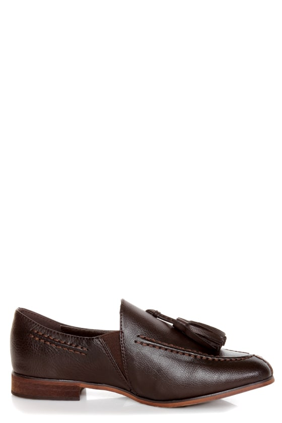 Oxy 4 Brown Slip-On Tassel Loafers