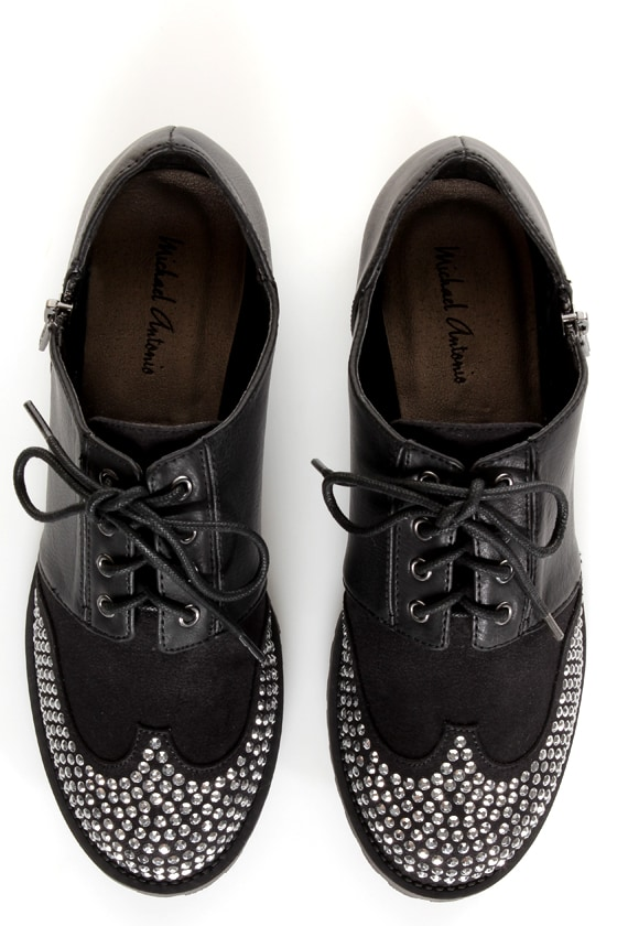Michael Antonio Peter Black Rhinestone Wingtip Oxfords at Lulus.com!