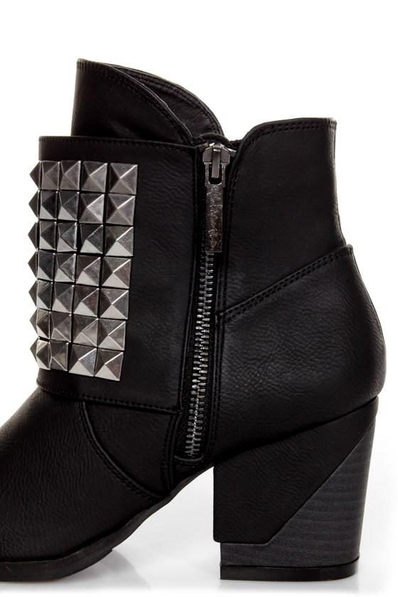 Michael Antonio Studio Marcos Black Studded Ankle Boots