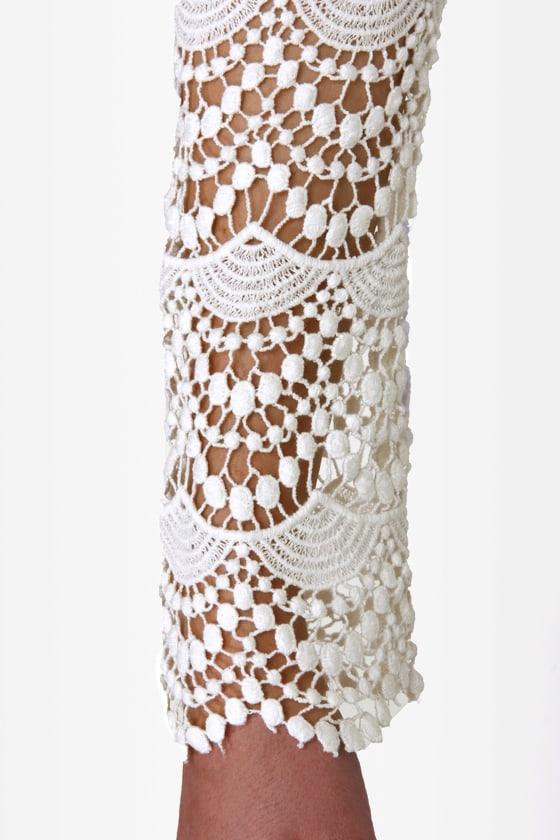 Black Sheep Tasha Ivory Lace Dress