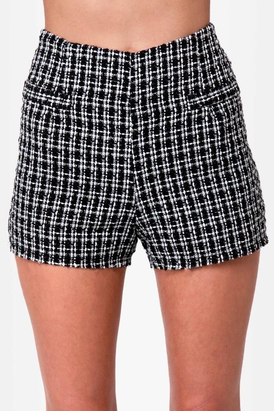 Pompidou Black Boucle Shorts