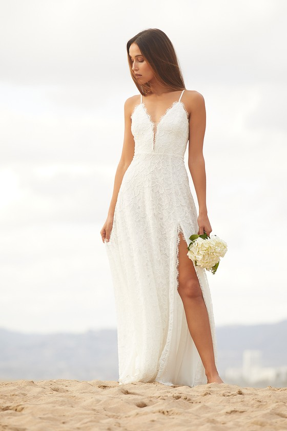 Always Have, Always Will White Lace Maxi Dress