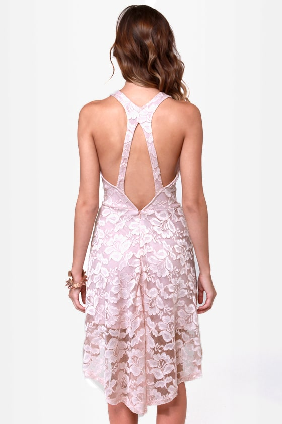 First Anniversary Blush Lace Dress at Lulus.com!