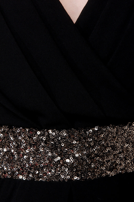 Stay the Quartz Black Sequin Dress at Lulus.com!
