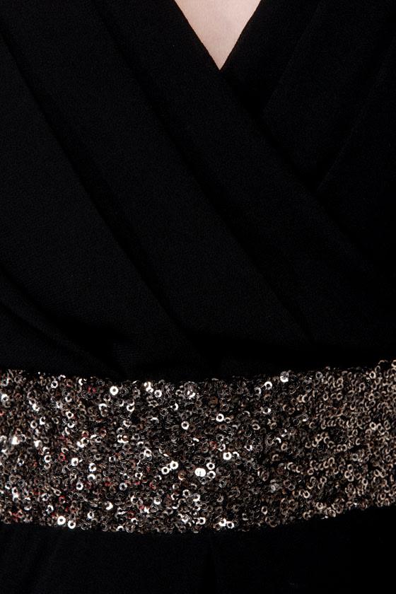 Stay the Quartz Black Sequin Dress