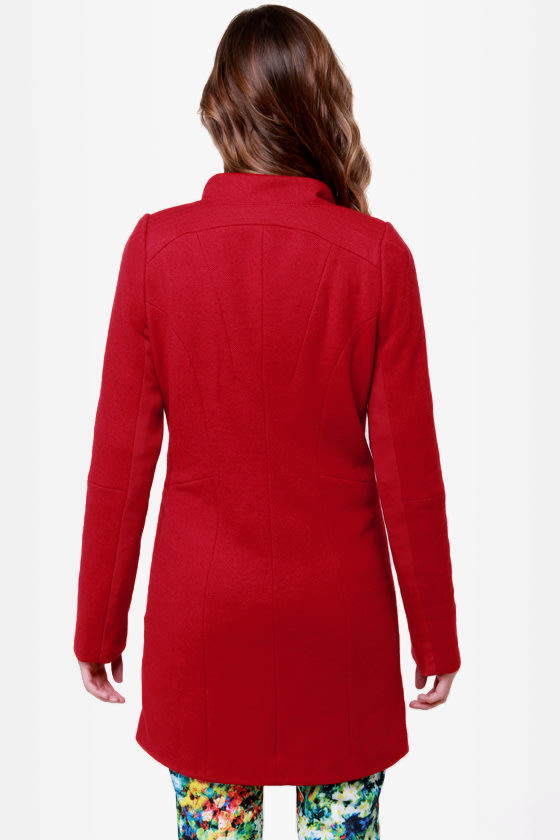 Fire Lily Red Coat at Lulus.com!