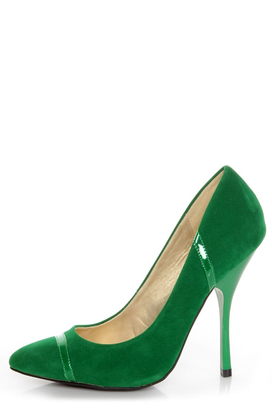 Shoe Republic LA Silva Jade Green Pointed Pumps