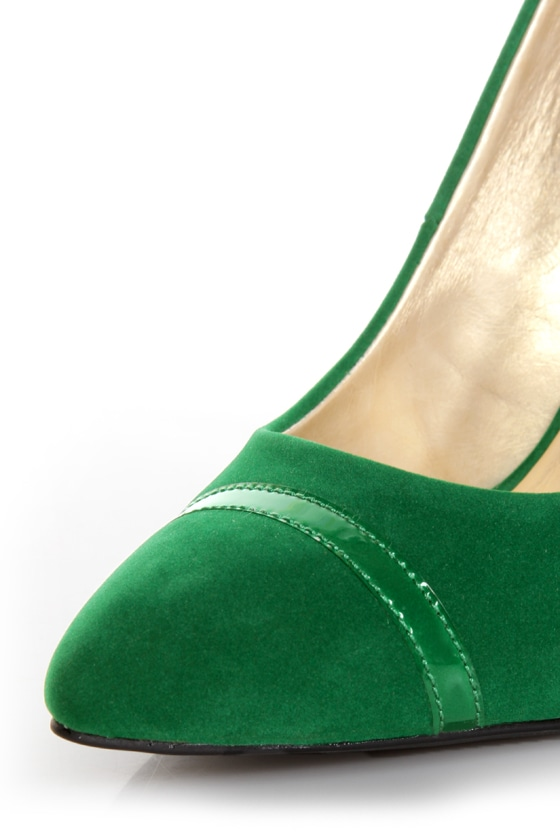 Shoe Republic LA Silva Jade Green Pointed Pumps at Lulus.com!