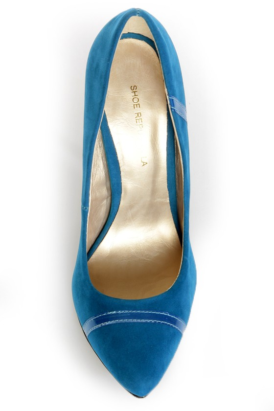 Shoe Republic LA Silva Teal Blue Pointed Pumps at Lulus.com!