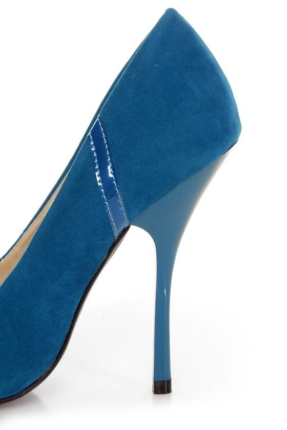 Shoe Republic LA Silva Teal Blue Pointed Pumps