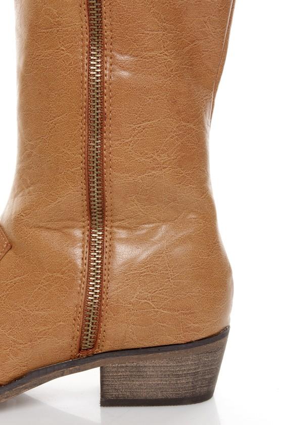 Mixx Daniel Tan Knee High Riding Boots