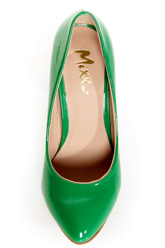 Mixx Shuz Rosemary Green Patent Pumps at Lulus.com!