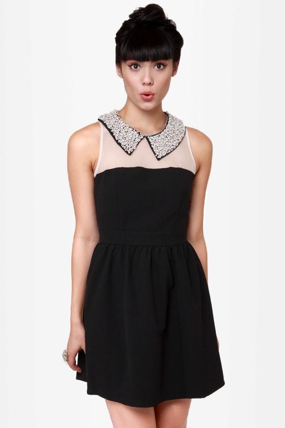 Darling Ellen Beaded Black Dress at Lulus.com!