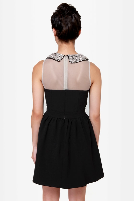 Darling Ellen Beaded Black Dress