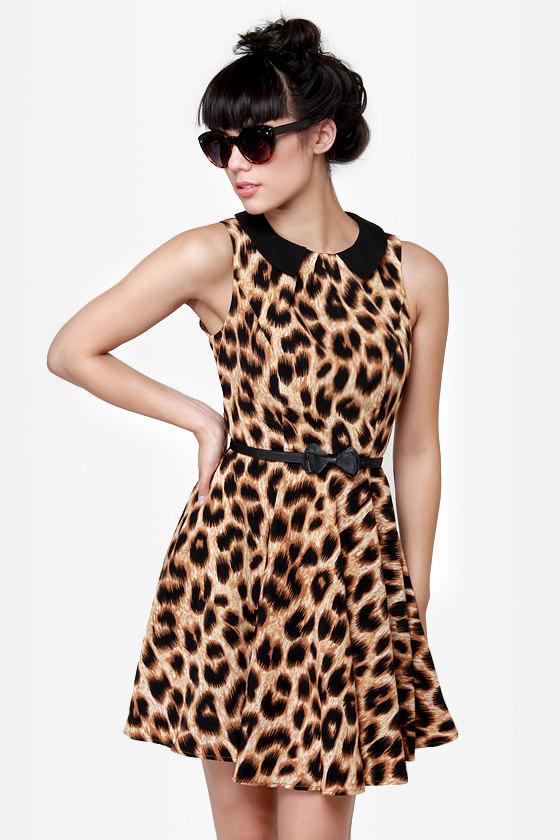 Darling Marcia Animal Print Dress