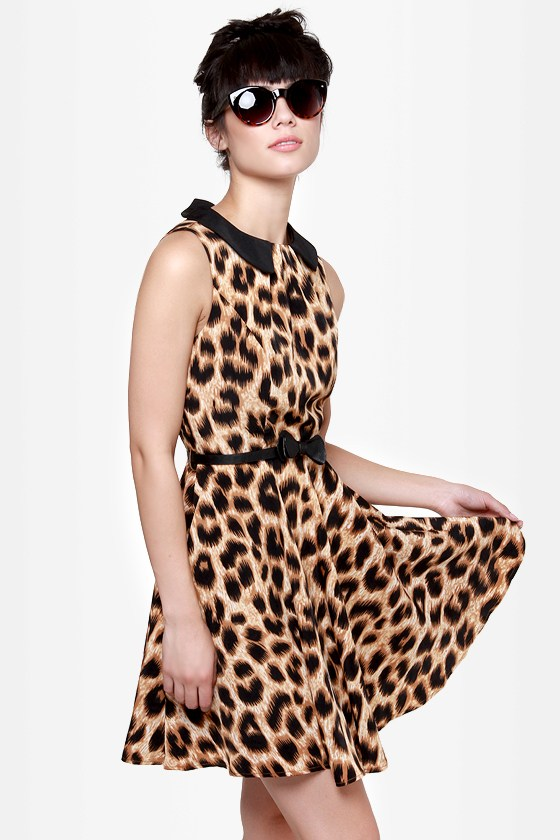 Darling Marcia Animal Print Dress