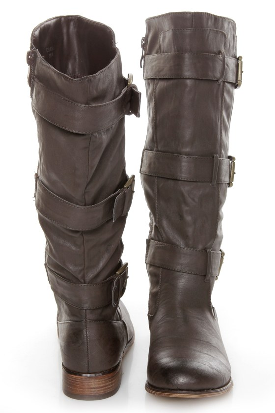 Cowgirl 2 Brown Belted Riding Boots