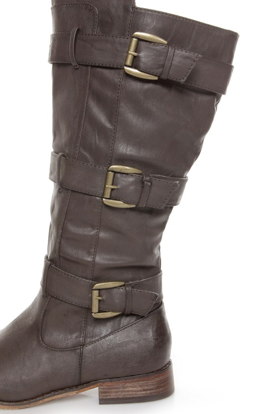 Cowgirl 2 Brown Belted Riding Boots at Lulus.com!