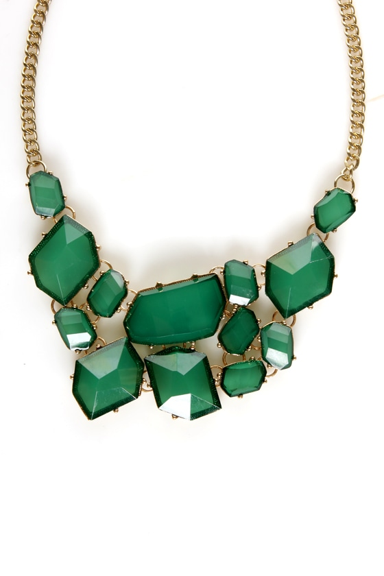 Off to See the Wizard Green Statement Necklace at Lulus.com!
